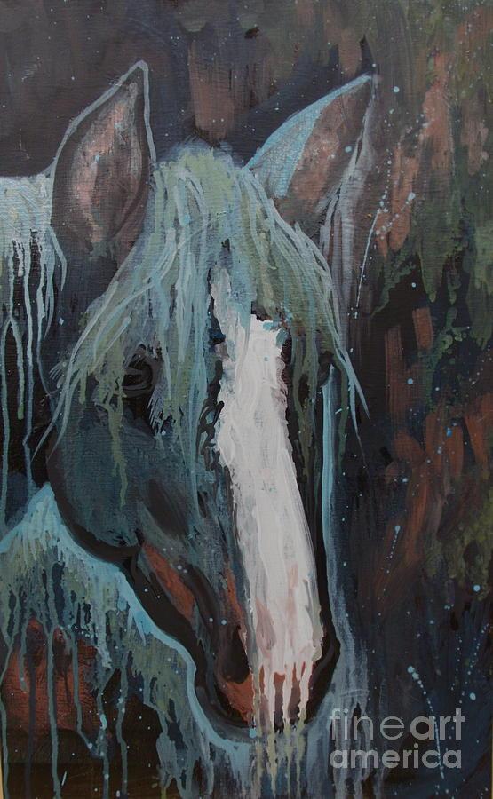 Horse Painting - Waterfall II by Sherri Anderson