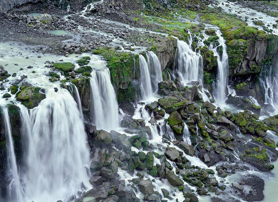 Landscape Photograph - Waterfall In Iceland by Birgir Freyr Birgisson