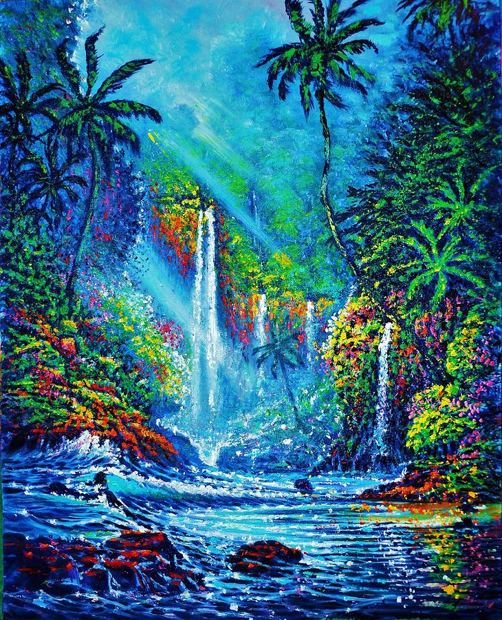 Waterfall Painting by Joseph   Ruff