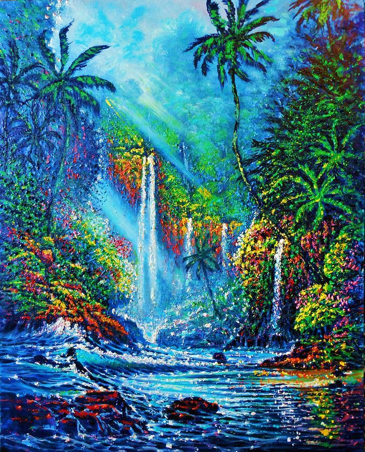 waterfall lV Painting by Joseph   Ruff