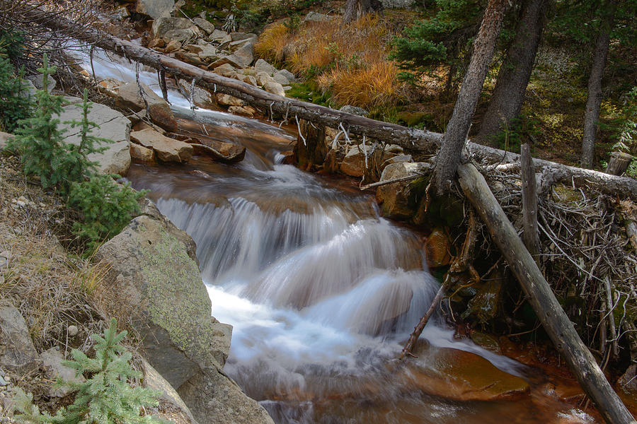 Waterfall Photograph - Waterfall Near Breckenridge by David Yack