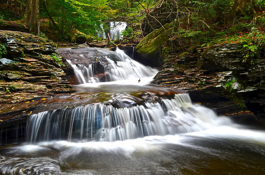 Oasis Photograph - Waterfall Oasis by Frozen in Time Fine Art Photography
