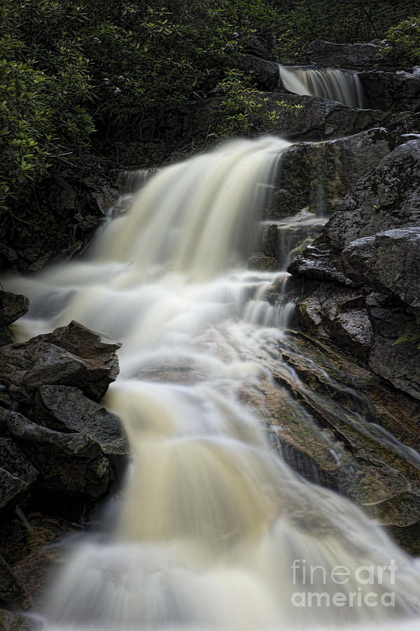 Waterfall Photograph - Waterfall On Big Run River Stream West Virginia by Dan Friend