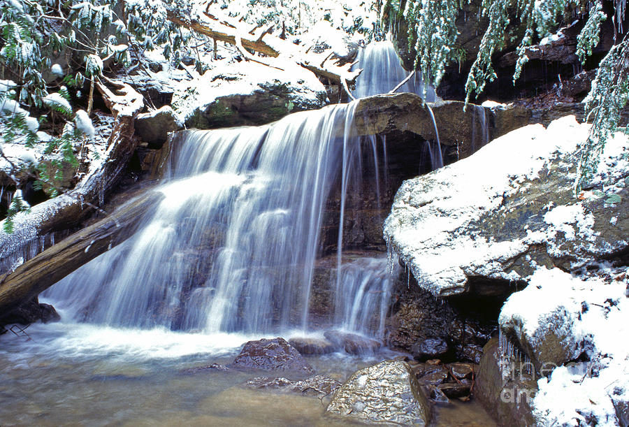 Waterfall On The Back Fork Of The Elk River Photograph