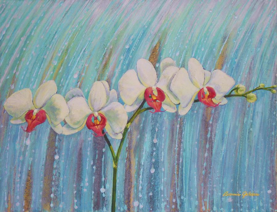 Orchid Painting - Waterfall Orchid  by Bonnie Golden