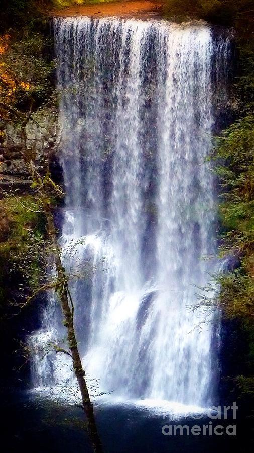 South Waterfall Photograph - Waterfall South by Susan Garren