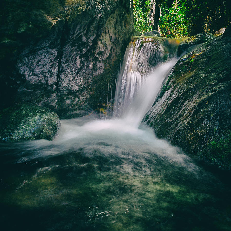 Autumn Photograph - Waterfall by Stelios Kleanthous