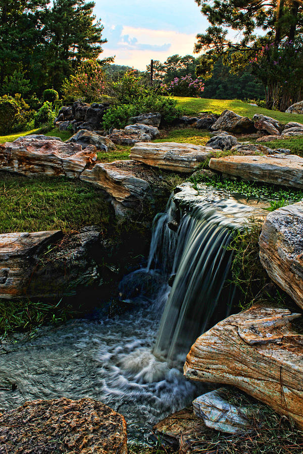 Waterfall Sunset Photograph