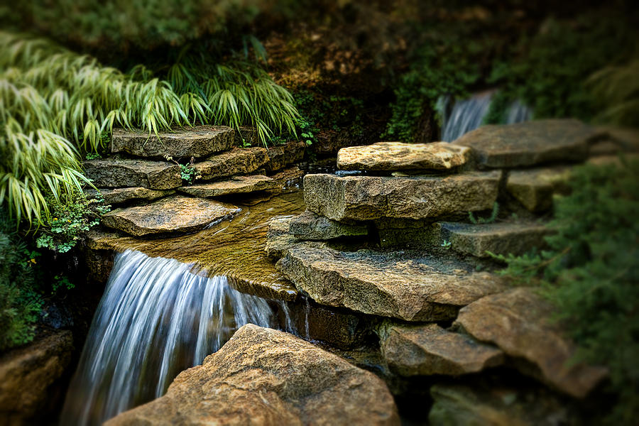 Cascade Photograph - Waterfall by Tom Mc Nemar