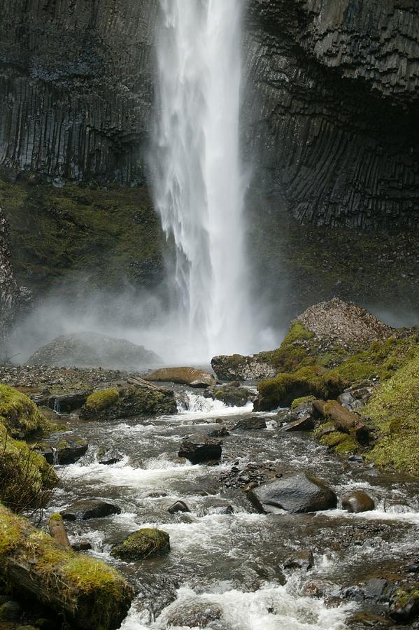 Mountain Waterfall Trail Photograph