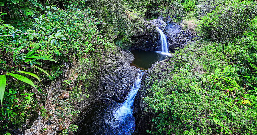 Maui Photograph - Waterfalls And Pools Maui Hawaii by Edward Fielding