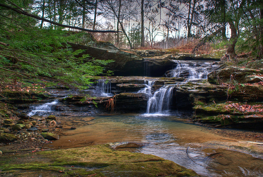 Waterfalls Photograph - Waterfalls Cascading by Douglas Barnett