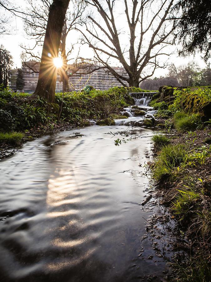 Parco Di Monza Photograph - Waterfalls In The Park by Alfio Finocchiaro