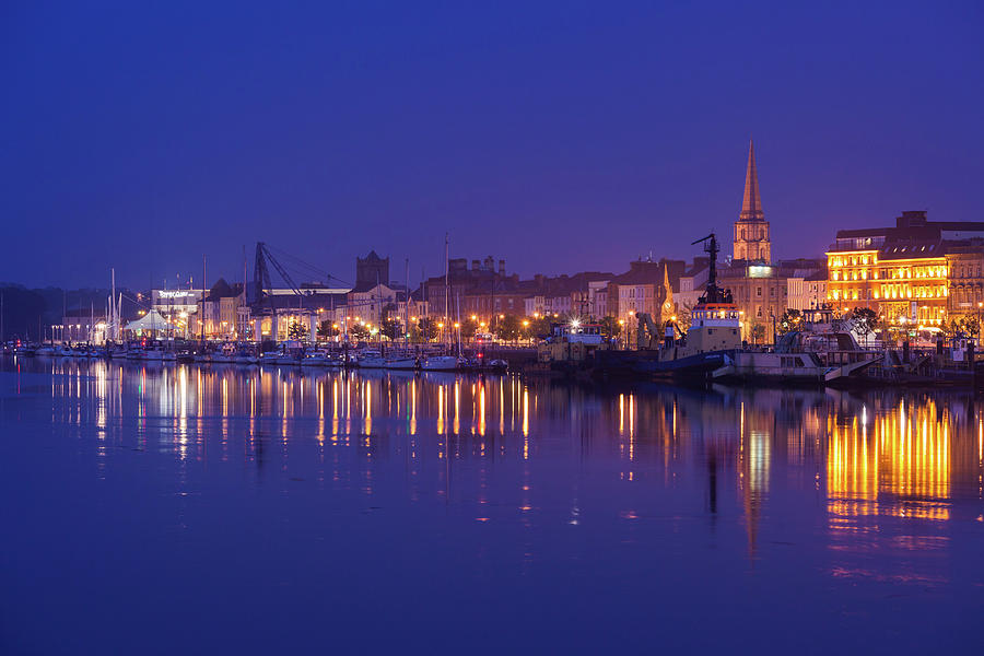 Horizontal Photograph - Waterford Skyline Along River Suir by Panoramic Images