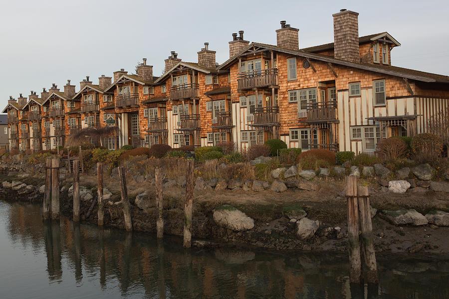 La Conner Photograph - Waterfront Apartments by Gordon  Grimwade