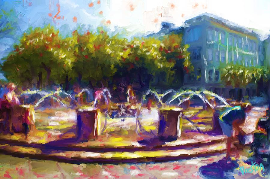 Waterfront Park Painting - Waterfront Park by Preston Sandlin