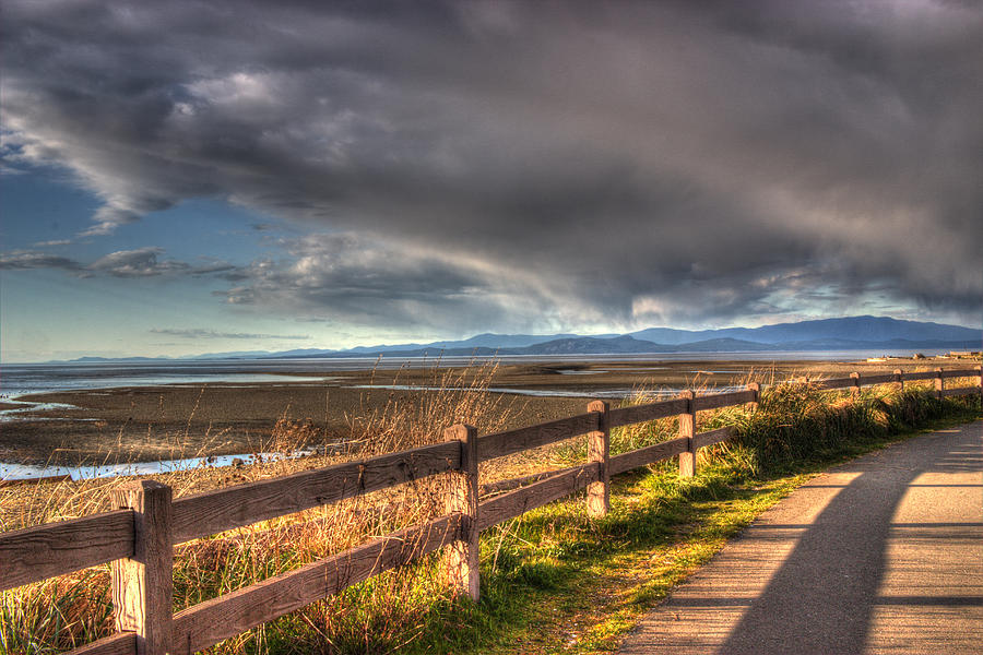 Fence Photograph - Waterfront Walkway by Randy Hall