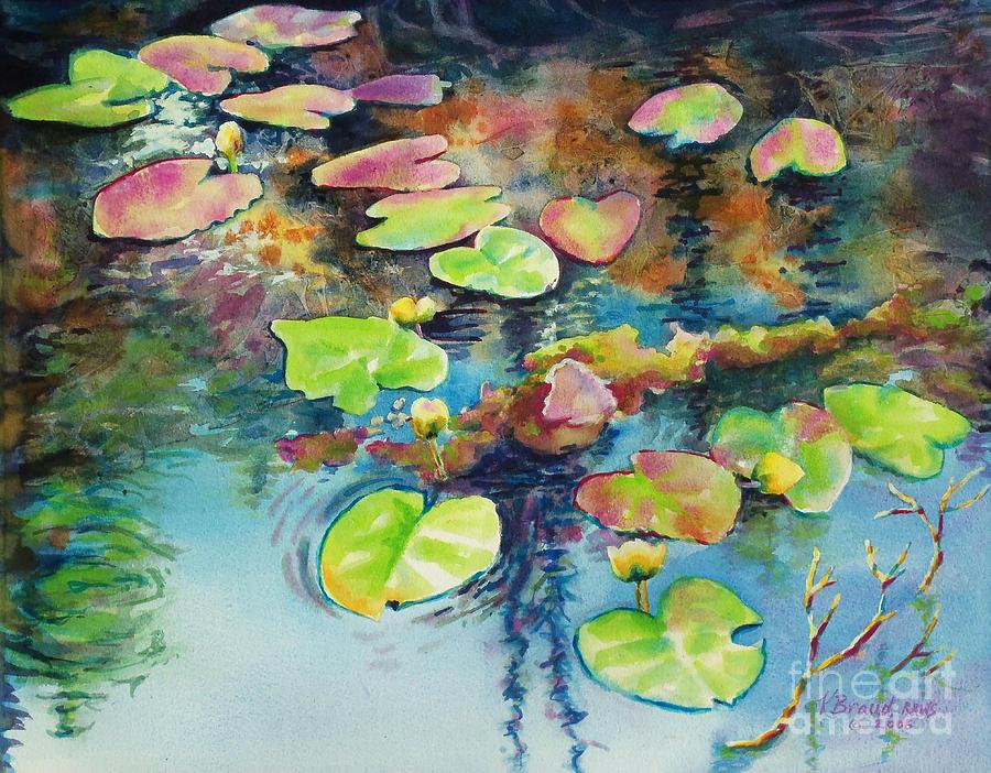 Paintings Painting - Waterlilies In Shadow by Kathy Braud