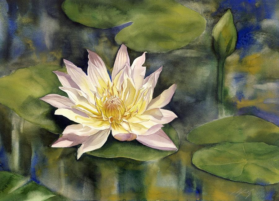 Waterlily Painting - Waterlily by Alfred Ng