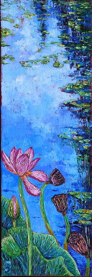 Waterlily Stages by Linda J Bean