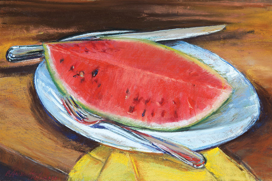 Watermellon Pastel - Watermelon by Beverly Amundson
