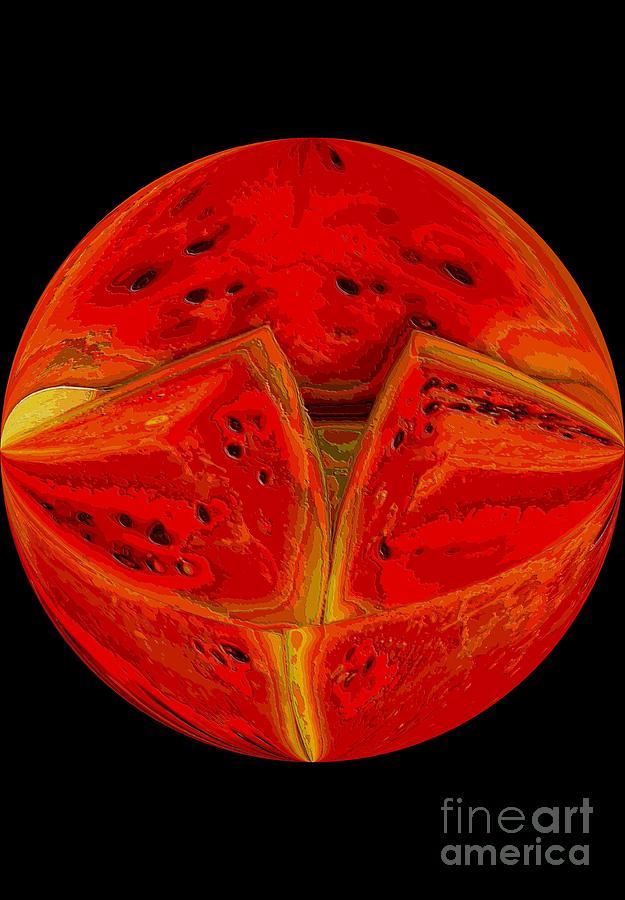 Watermelon Photograph - Watermelon Ball by Annette Allman