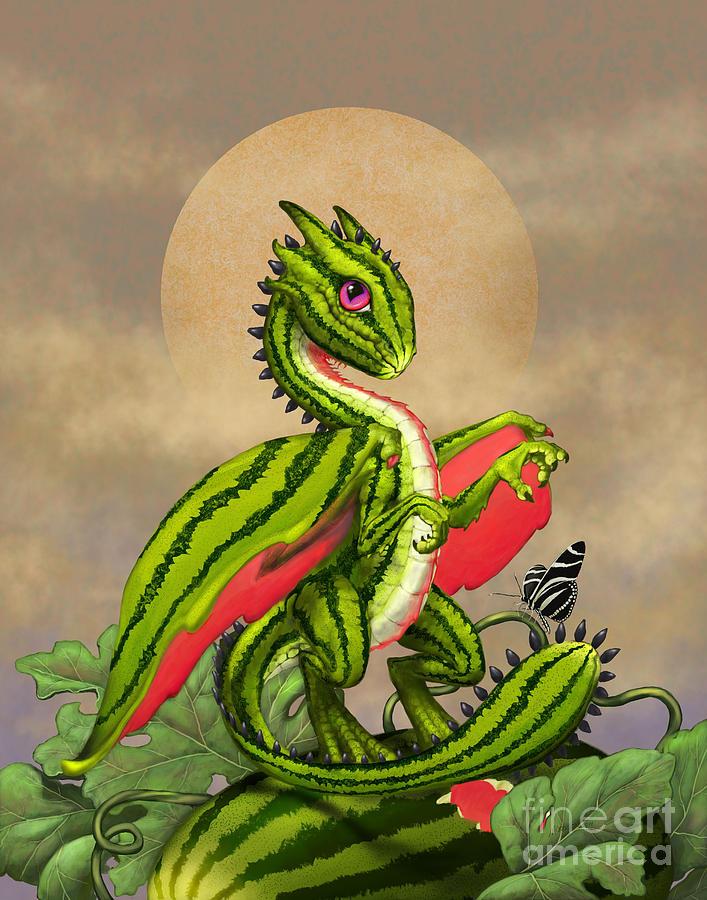 Watermelon dragon digital art by stanley morrison - Fine art america ...