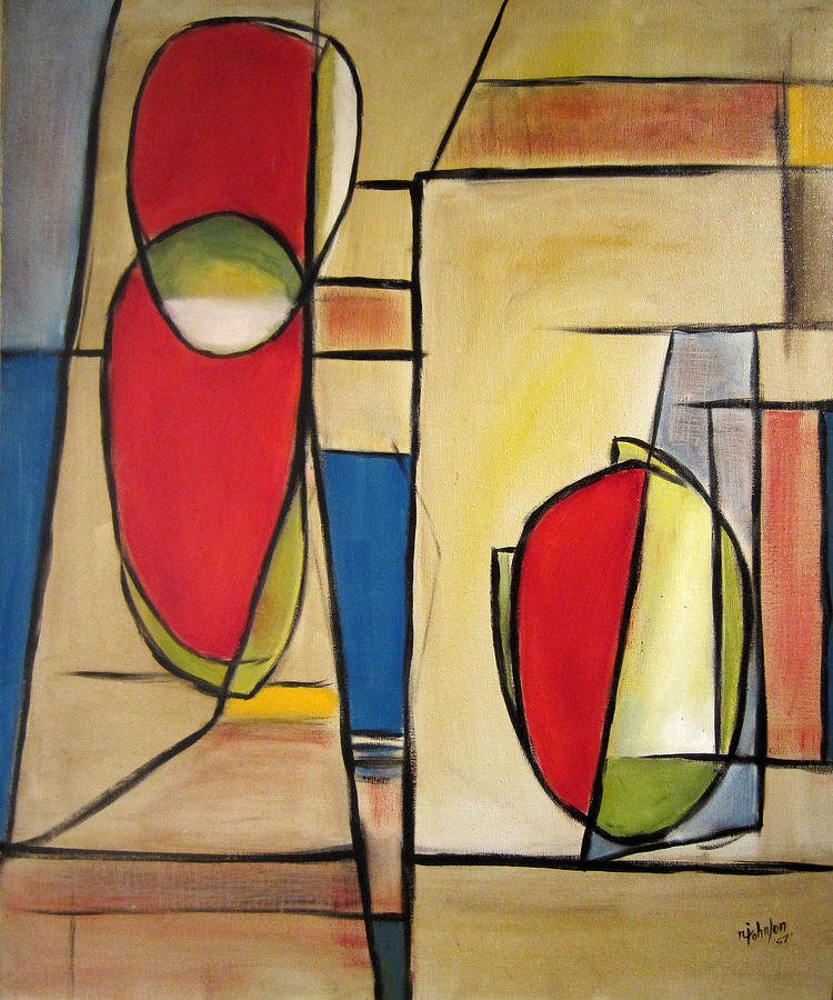 Abstract Painting - Watermelon by R Johnson