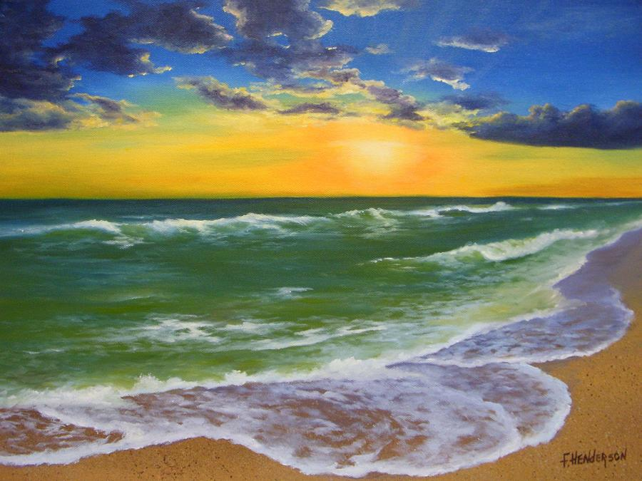 Seascape Painting - Waters Edge by Francine Henderson