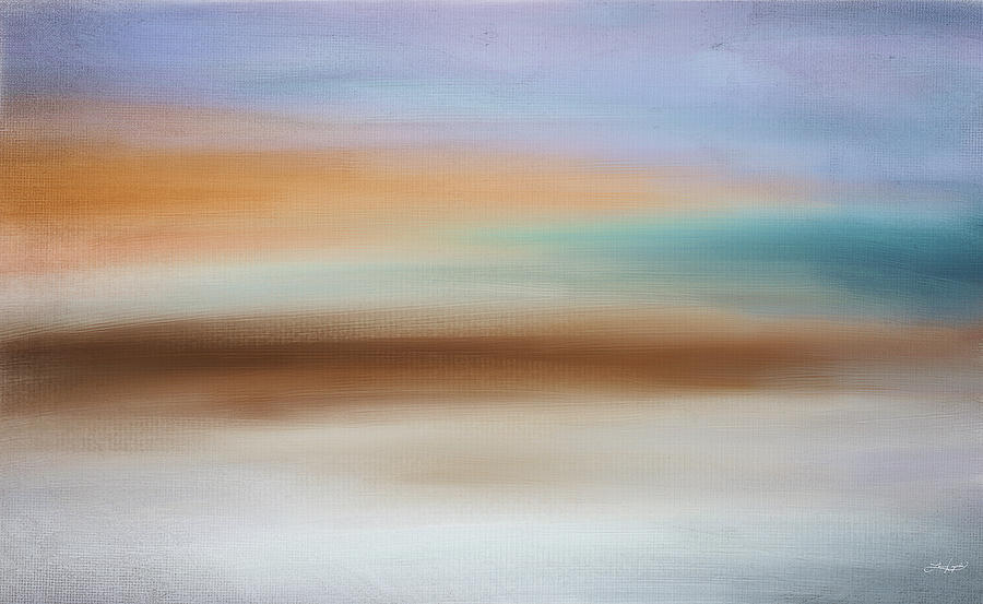 Abstract Seascape Digital Art - Waters Edge by Lourry Legarde