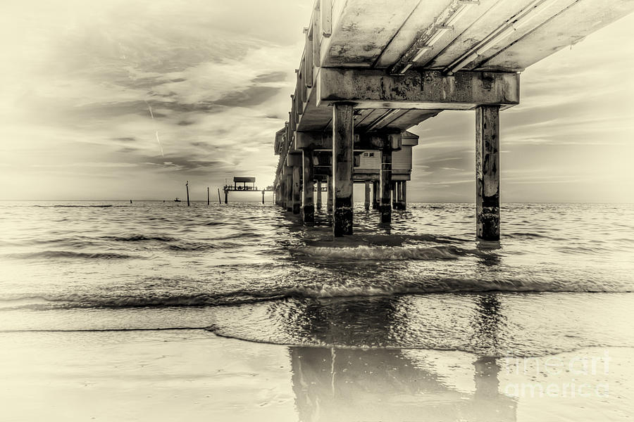 Black And White Photograph - Waters Edge by Marvin Spates
