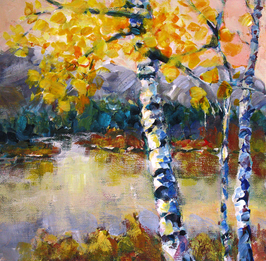 Trees Painting - Waters Edge by Melissa Gannon