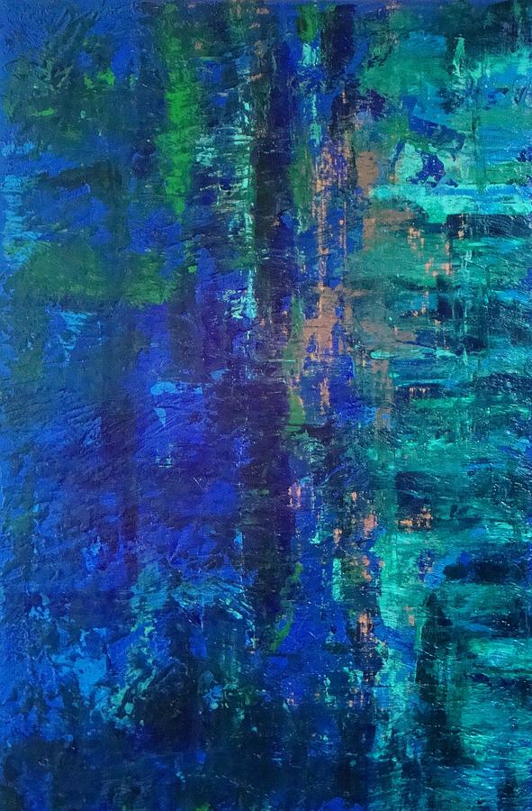 Abstract Painting - Waterscape Dream by Jay Strong