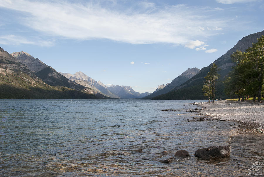 Waterton Photograph - Waterton Lake by Kenneth Hadlock