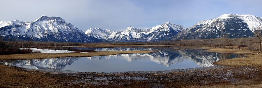 Waterton Lakes Nat. Park Morning Snowy Reflections - Alberta Photograph