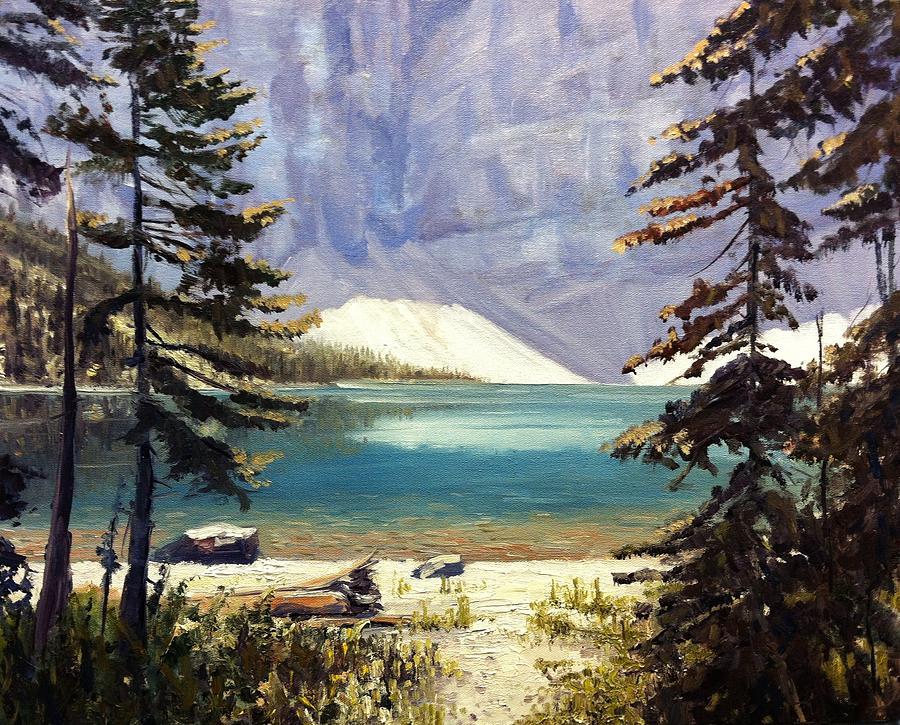Alberta Canada Painting - Waterton Lakes National Park by Tom Siebert