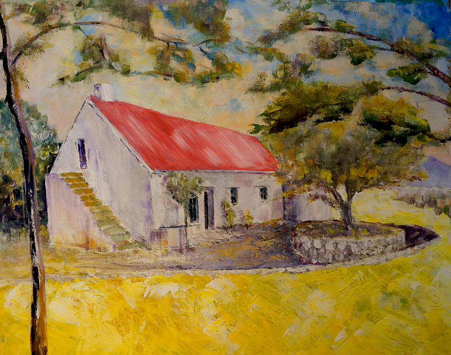 Farm House Painting - Waterval Farm by David  Hawkins