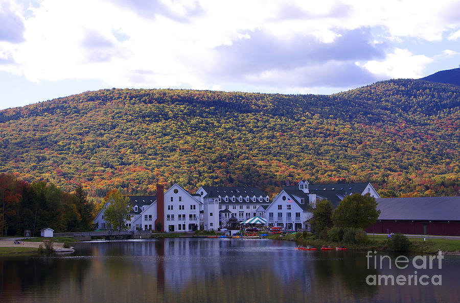 Fall In New Hampshire Photograph - Waterville Valley 2 by Michael Mooney