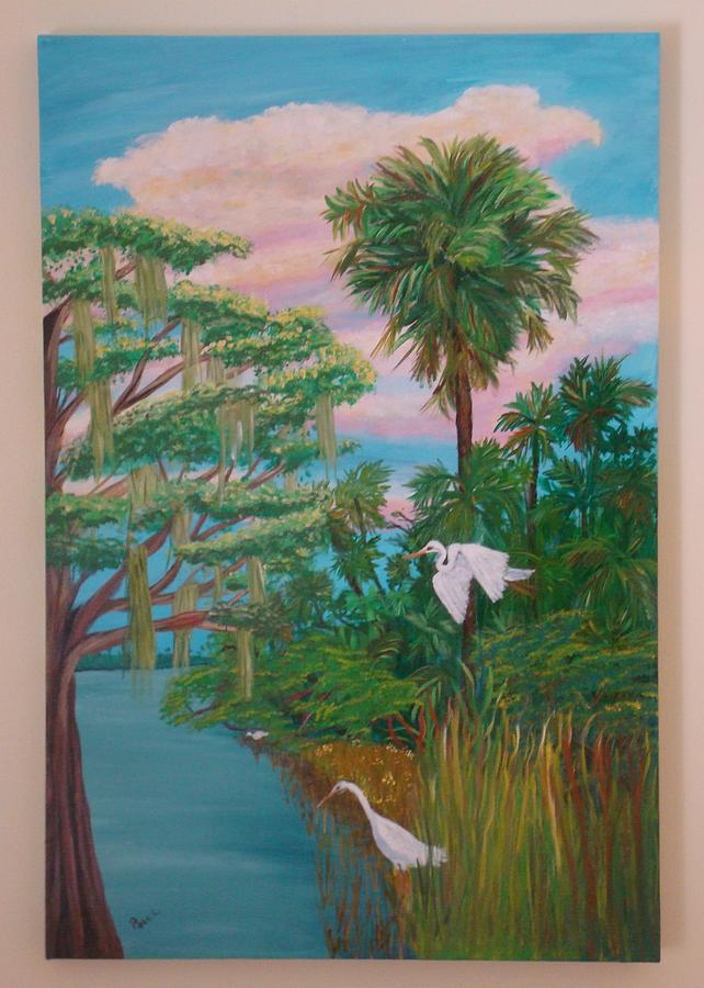 Waterway In The Glades Painting by Patti Lauer