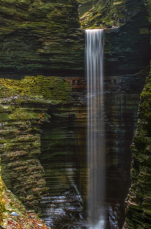 Cavern Cascade Photograph - Watkins Glen Central Cascade by Mark Papke