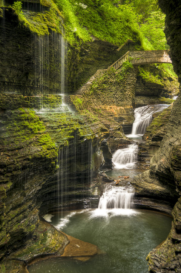 Watkins Glen Photograph - Watkins Glen Falls by Anthony Sacco