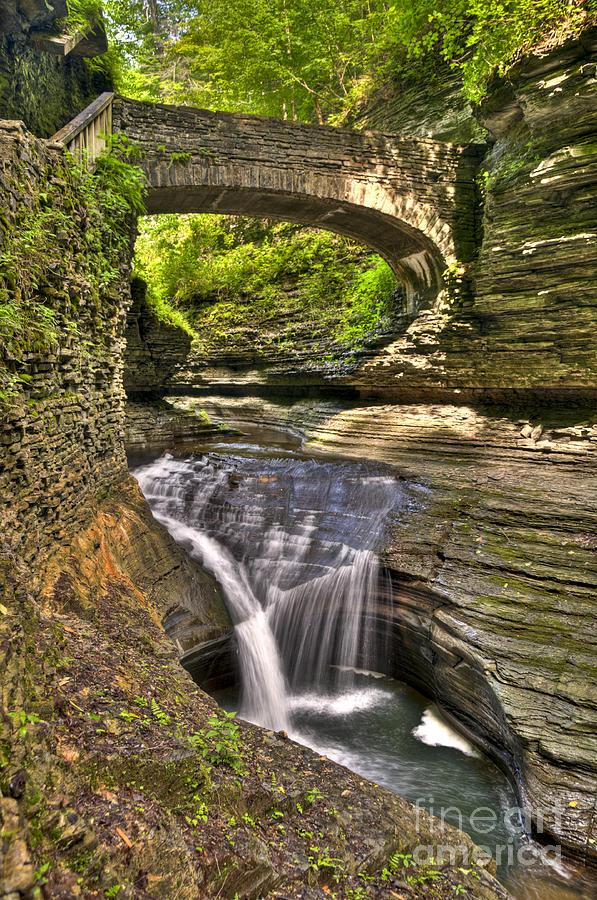Watkins Glen Photograph - Watkins Glen Waterfalls by Anthony Sacco