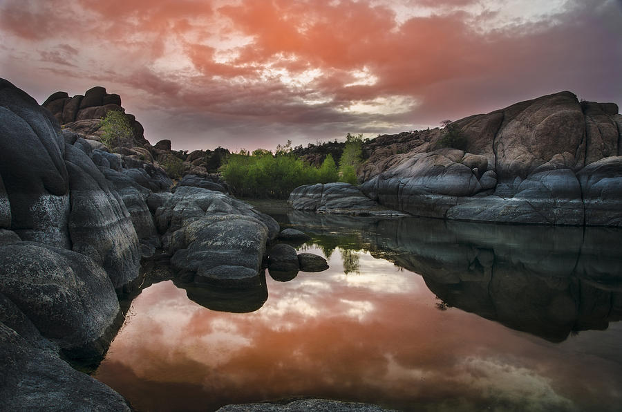 Watson Photograph - Watson Lake In Pink by Dave Dilli