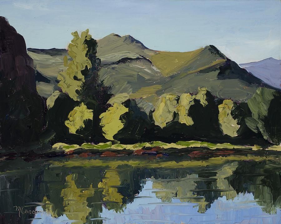 Plein Air Painting - Watson Lake by Mary Giacomini