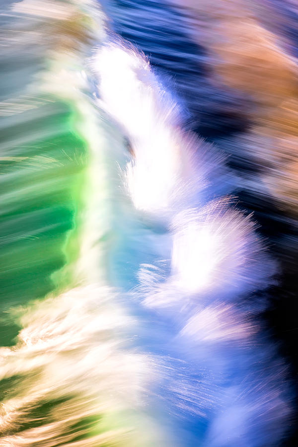 Wave Abstract Triptych 3 by Brad Brizek