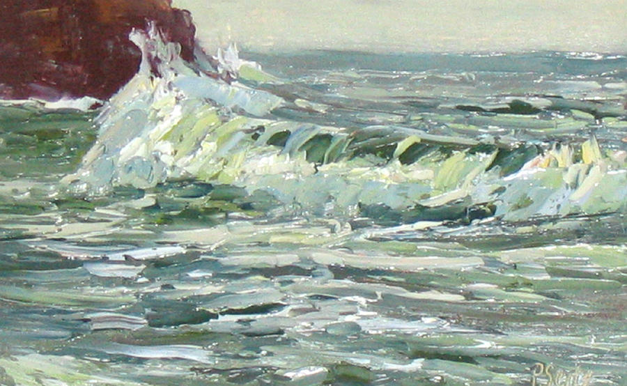 Ocean Painting - Wave Action by Patricia Seitz