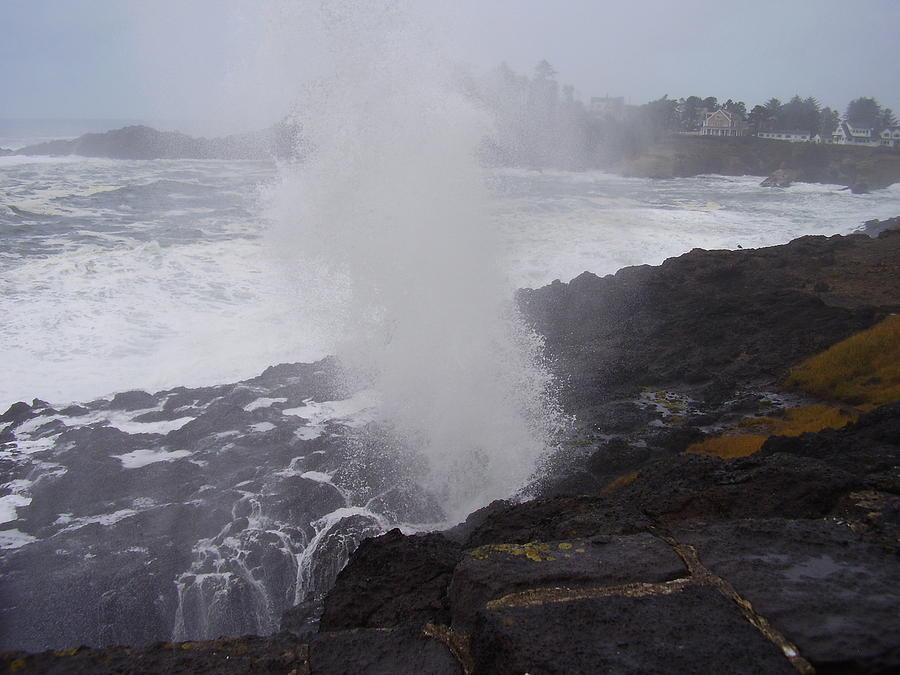 Landscape Photograph - Wave Blast by Yvette Pichette
