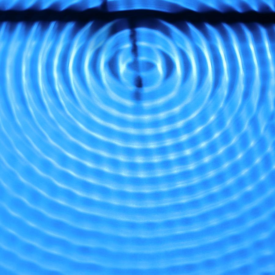 Wave Photograph - Wave Diffraction by Science Photo Library