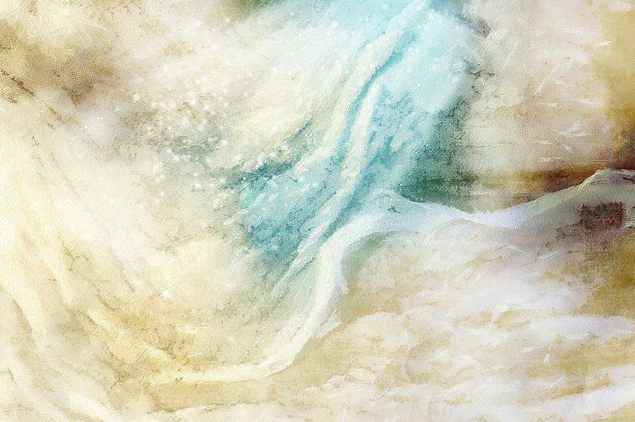 Abstract Digital Art - Wave by Gun Legler