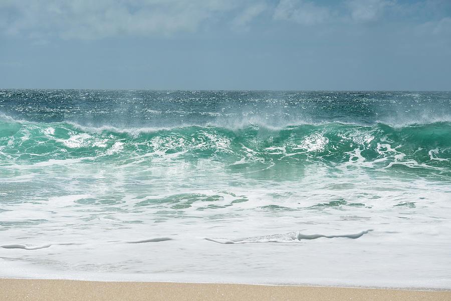 Wave Photograph by J Shepherd